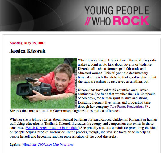 3 Jessica Kizorek CNN Young People Who Rock